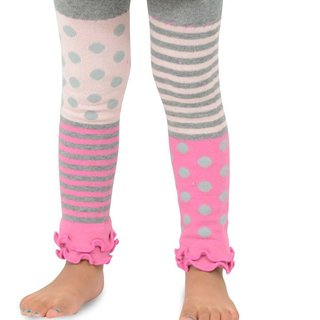 Naartjie Girl's Stripes with Dots Legging with Ruffle Bottom