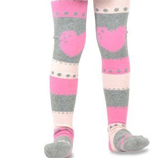 Naartjie Girl's Stripes and Heart Tights