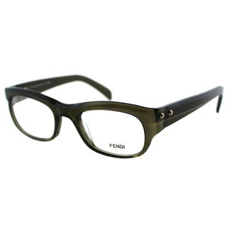 Fendi Unisex FE 867 248 Military Green Plastic Rectangle Eyeglasses