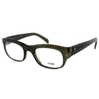 Fendi Unisex FE 867 248 Military Green Plastic Rectangle Eyeglasses