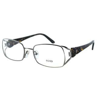a5787139a22f Fendi Women s FE 872 036 Gunmetal Rectangle Metal Eyeglasses