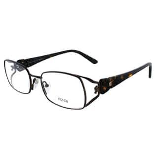 Fendi Women's FE 872 212 Brown Metal Rectangle Eyeglasses|https://ak1.ostkcdn.com/images/products/10867779/P17905622.jpg?impolicy=medium