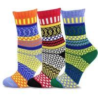 TeeHee Women's Winter Fun Jacquard Multi-colored Crew Socks