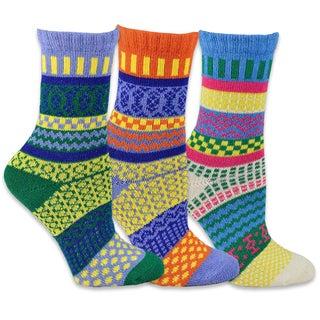 TeeHee Women's Winter Fun Crew Jacquard Socks Multi-colored Socks