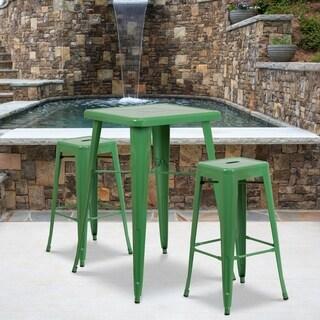 23.75SQ Metal Bar Table Set (Green)