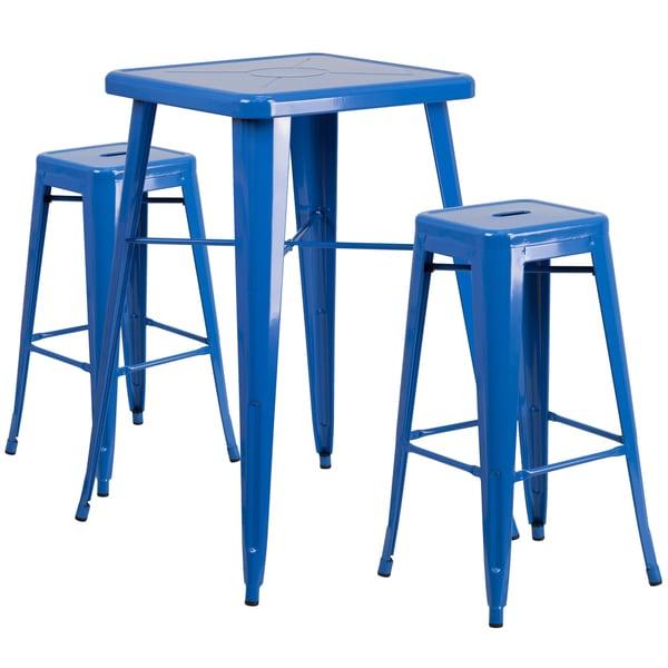 Metal IndoorOutdoor Bar Table Set Free Shipping Today  : Metal Indoor Outdoor Bar Table Set b22f91ab 2cc5 4c92 8f72 280b959ef5ba600 from www.overstock.com size 600 x 600 jpeg 29kB