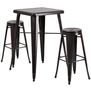 Antique Metal Bar Table Set