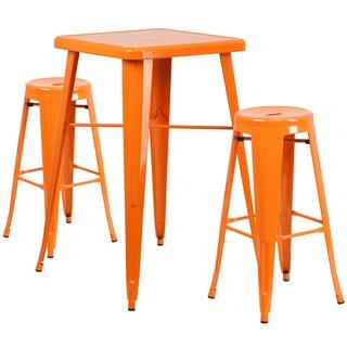 Metal Indoor/Outdoor Bar Table Set (Option: Orange)