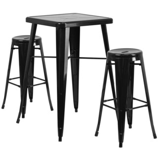 Metal Indoor/Outdoor Bar Table Set
