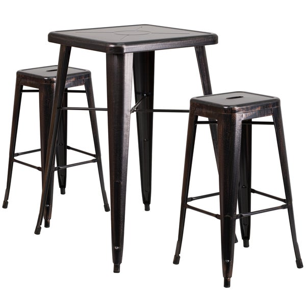 Antique Metal Bar Table Set - Free Shipping Today - Overstock - 17905756