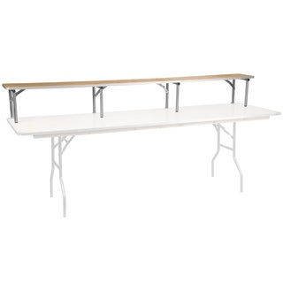 96'' x 12'' x 12'' Birchwood Bar Top Riser with Silver Legs