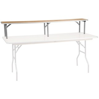 72'' x 12'' x 12'' Birchwood Bar Top Riser with Silver Legs