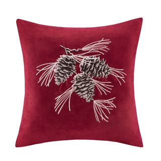 Madison Park Pine Cone Embroidered Suede 20-inch Throw Pillow|https://ak1.ostkcdn.com/images/products/10867878/P17905776.jpg?impolicy=medium