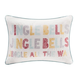 Madison Park Jingle Bells Oblong Throw Pillow