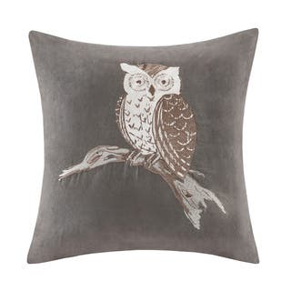 Madison Park Owl Embroidered Suede 20-inch Throw Pillow|https://ak1.ostkcdn.com/images/products/10867894/P17905790.jpg?impolicy=medium