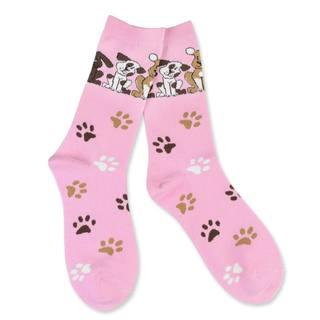 TeeHee Women's Dog Lover Cotton Pink Crew Socks