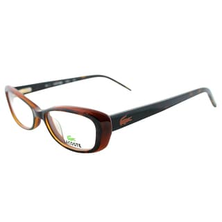 Lacoste Women's LA 2611 214 Tortoise Brown Plastic Cateye Eyeglasses