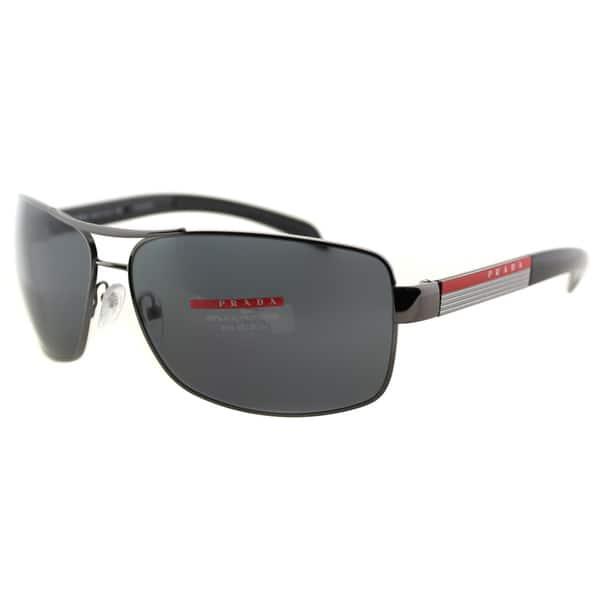 940ec6849b66 Prada Linea Rossa Men's PS 54IS 5AV5Z1 Gunmetal Metal Rectangle Sunglasses