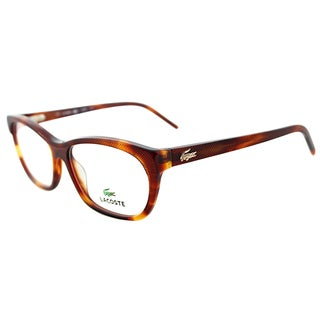Lacoste Women's LA 2639 218 Light Havana Plastic Cateye Eyeglasses