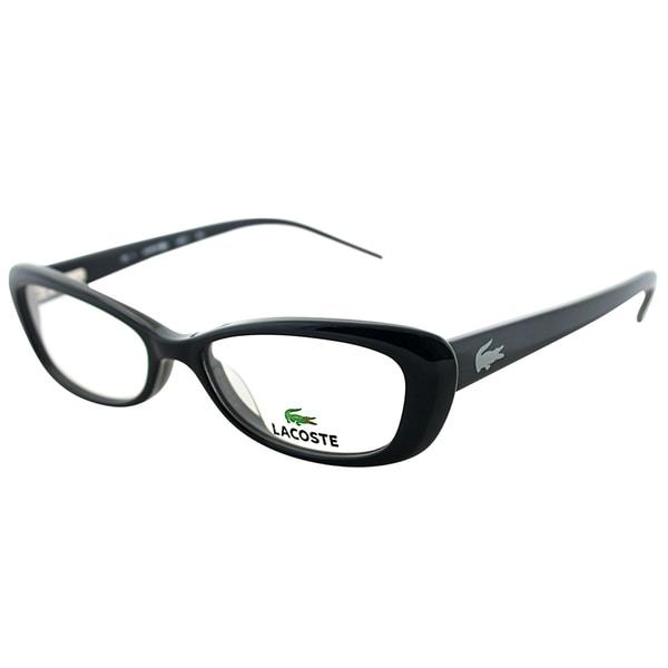 Lacoste Women's LA 2611 001 Black Plastic Cateye Eyeglasses