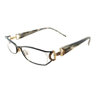 Gucci Women's GG 2793 QGT Shiny Black Metal Rectangle Eyeglasses