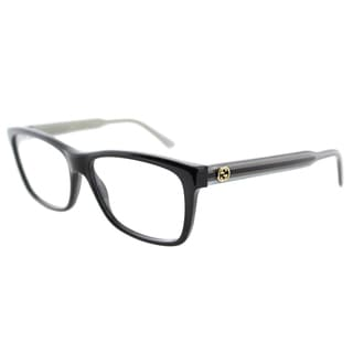 Gucci Women's GG 3765 GX3 Black And Grey Plastic Rectangle Eyeglasses