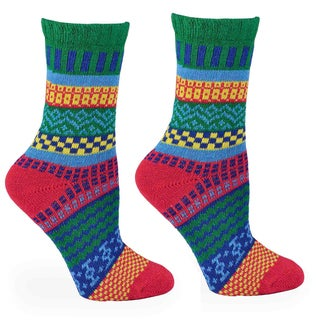 TeeHee Women's Winter Cotton Fun Multi-colored Crew Socks