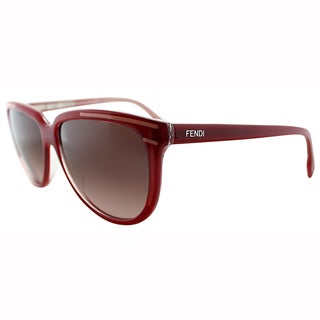 Fendi Women's FS 5279 615 Red Plastic Cat Eye Sunglasses
