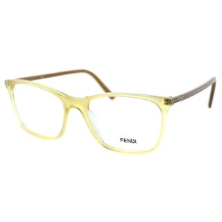 Fendi Women's FE 946 799 Sand Transparent Plastic Rectangle Eyeglasses