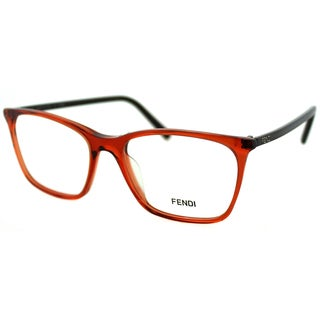Fendi Women's FE 946 810 Red Transparent Plastic Rectangle Eyeglasses
