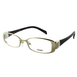 Fendi Women's FE 901 714 Gold Metal Rectangle Eyeglasses