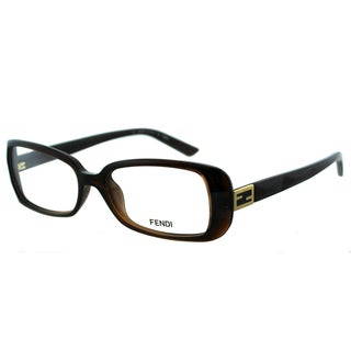 Fendi Women's FE 898 209 Brown Plastic Rectangle Eyeglasses