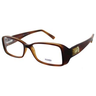 87c2c409a02d Fendi Women s FE 896 218 Brown Light Havana Plastic Rectangle Eyeglasses