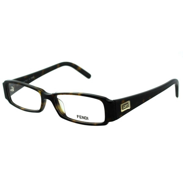 Shop Fendi Women S Fe 891 215 Dark Havana Rectangle
