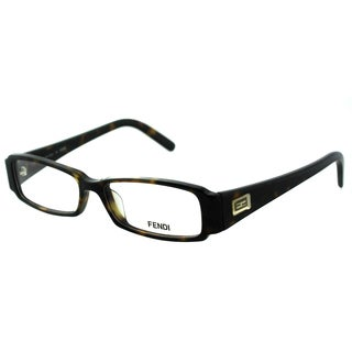 Fendi Women's FE 891 215 Dark Havana Rectangle Plastic Eyeglasses