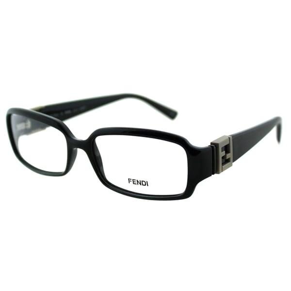 Fendi Women's FE 880 001 Black Rectangle Plastic Eyeglasses