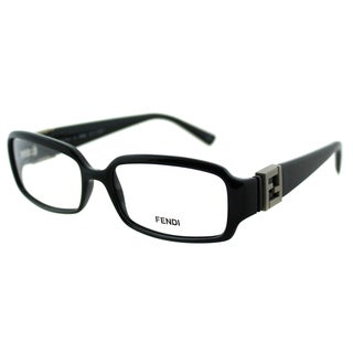 Fendi Women's FE 880 001 Black Rectangle Plastic Eyeglasses