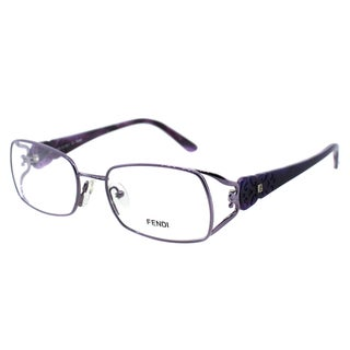 Fendi Women's FE 872 532 Purple Rectangle Metal Eyeglasses