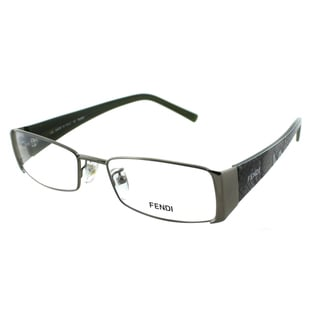 Fendi Women's FE 874 260 Green Rectangle Metal Eyeglasses