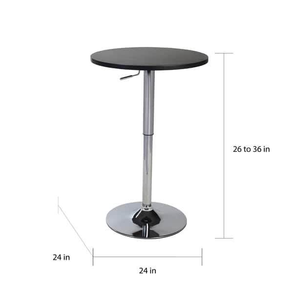 Terrific Cumar Black Adjustable Height Wood And Chrome Metal Bar Table Gamerscity Chair Design For Home Gamerscityorg