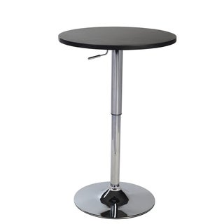 Cumar Black Adjustable Height Wood and Chrome Metal Bar Table. Bar   Pub Tables   Shop The Best Brands   Overstock com