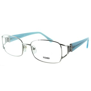 Fendi Women's FE 848 028 Silver Metal Rectangle Eyeglasses