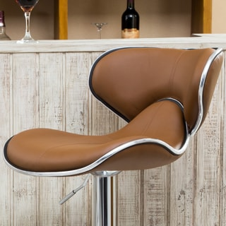 Masaccio Leatherette Airlift Adjustable Swivel Barstool (Set of 2)