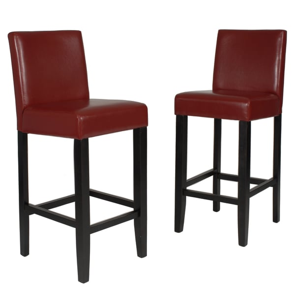 Clay Alder Home Humboldt 29 Inch Faux Leather Bar Height Barstool (Set Of 2