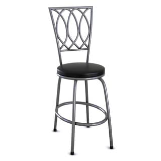 Redico Bar/ Counter Height Adjustable Metal Powder Coated Black Barstool