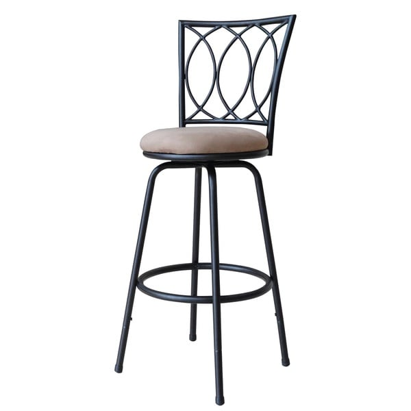 Redico Bar Counter Height Adjustable Metal Powder Coated Black Barstool Free Shipping On Orders Over 45 Overstock Com 17905865