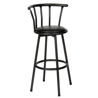 The Gray Barn Parker Swivel Powder Coated Black Barstool