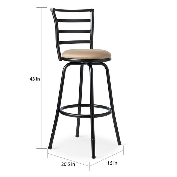 Amazing Shop Round Seat Bar Counter Height Adjustable Metal Bar Onthecornerstone Fun Painted Chair Ideas Images Onthecornerstoneorg