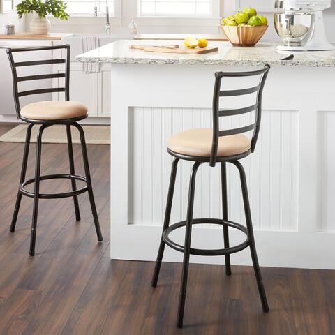Round Seat Bar/ Counter Height Adjustable Metal Bar Stool