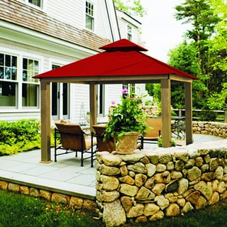 Riverstone Industries Acacia Sunbrella Fabric Gazebo (12' x 12')